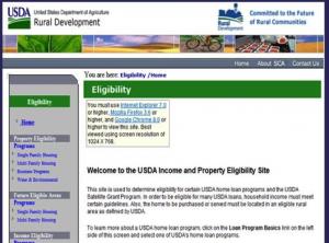 USDA Area Eligibility Maps