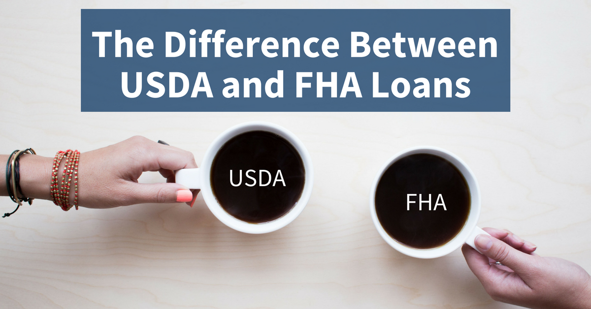 What are THREE key differences between USDA and FHA loans?