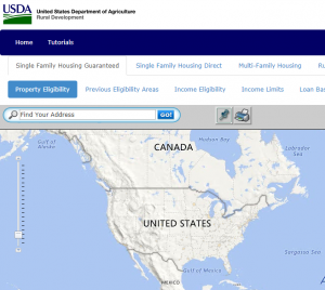 search for current USDA eligible areas