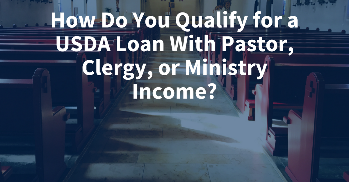 How does a minister or pastor qualify for a USDA loan in FL, TX, TN, AL