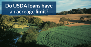 Do USDA loans have an acreage limit in Florida, Texas, Tennessee, or Alabama?