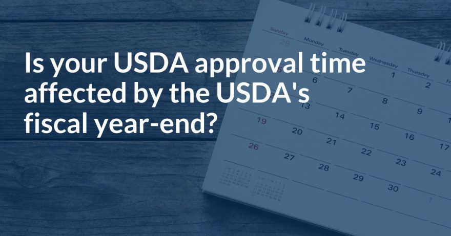 Is your lender's USDA approval time affected by the USDA's fiscal year-end?