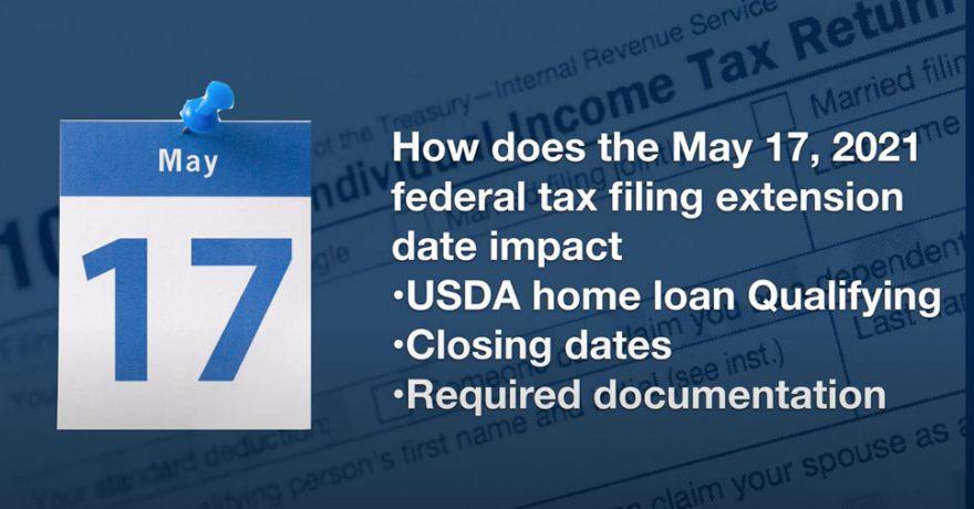 IRA Tax Deadline and USDA Loan