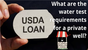 What are USDA loan well water requirements in Florida?